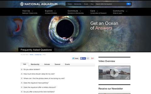 Screenshot of FAQ Page aqua.org captured Nov. 11, 2015