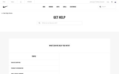 Screenshot of Contact Page nike.com - Contact Nike Support. Get Help via chat, email or phone. - captured Sept. 7, 2016