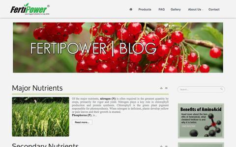 Screenshot of Blog fertipower.com - Blog - Fertipower, your magical solutions to crop yields - captured Sept. 30, 2014