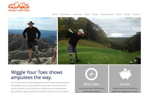 Screenshot of Home Page wiggleyourtoes.org - Home - Wiggle Your Toes - captured Dec. 3, 2016