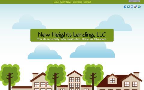 Screenshot of Home Page newheightslending.com - New Heights Lending, LLC - captured Oct. 18, 2018