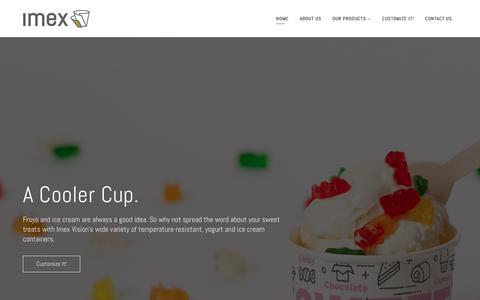 Screenshot of Home Page imexvision.com - IMEX – Innovative vision, custom manufacturing. - captured Nov. 12, 2018