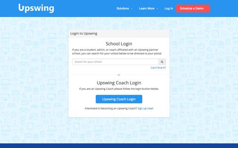 Screenshot of Login Page upswing.io - Login | Upswing - captured June 2, 2019