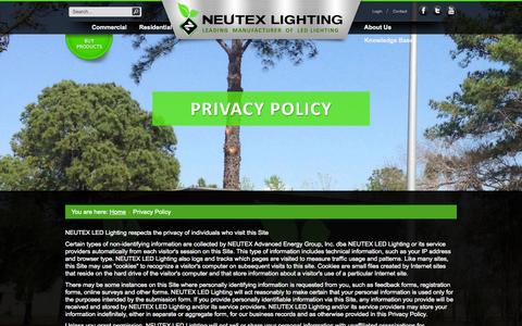 Screenshot of Privacy Page neutexlighting.com - Privacy Policy - captured Oct. 26, 2014