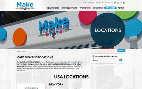Screenshot of Locations Page makemeaning.com - Store Locations | Make Meaning | Make Meaning - captured Sept. 16, 2014