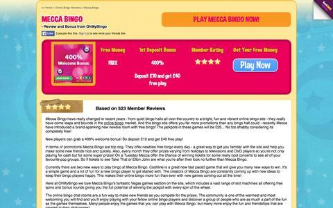 Screenshot of ohmybingo.com - Mecca Bingo | £40 free play |OhMyBingo.com - captured March 19, 2016