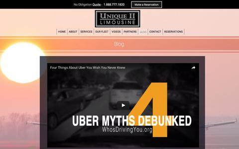 Screenshot of Blog uniquetwolimousine.com - About - captured Nov. 28, 2016