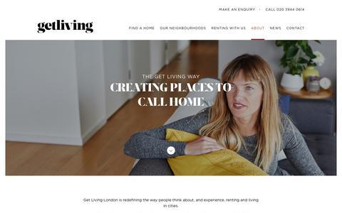 Screenshot of About Page getliving.com - The Get Living Way | Get Living - captured July 18, 2018