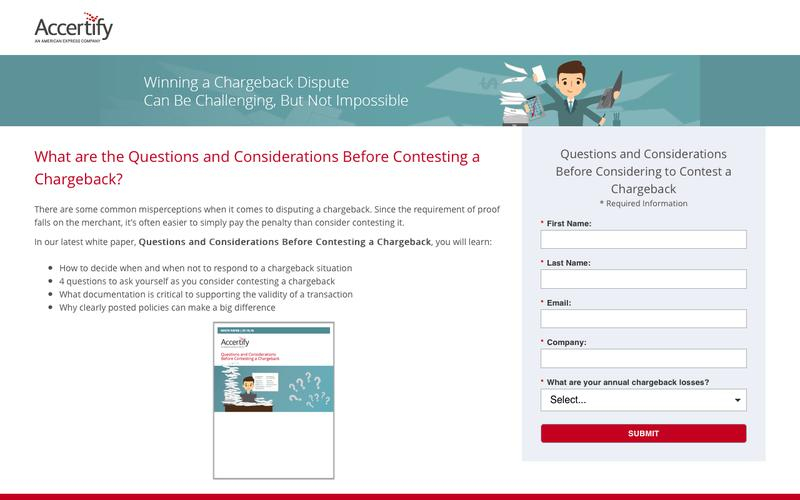 Questions and Considerations Before Contesting a Chargeback