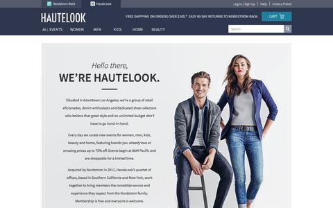 Screenshot of About Page hautelook.com - HauteLook - About - captured Feb. 25, 2016