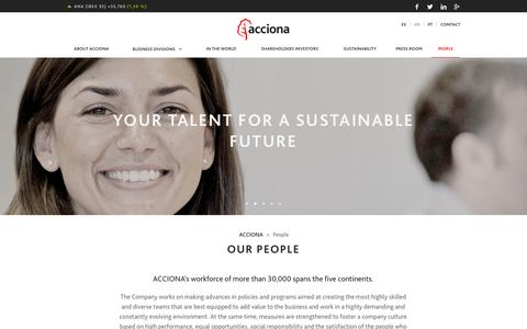 Screenshot of Team Page acciona.com - People - ACCIONA - captured Oct. 4, 2014