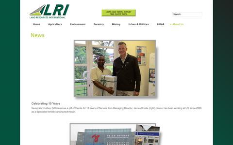 Screenshot of Press Page lri.co.za - News - captured July 14, 2017
