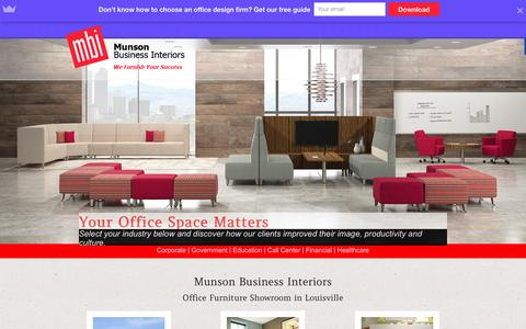 Screenshot of Home Page mbifurniture.com - MBI | Office Furniture and Design Showroom in Louisville, KY - captured Feb. 17, 2016