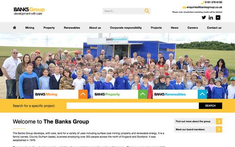 Screenshot of Home Page banksgroup.co.uk - Welcome :: Banks Group - captured Jan. 14, 2018