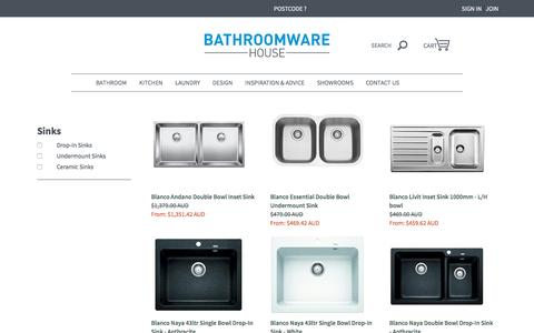 Sinks and Sink Accessories | Bathroomware House