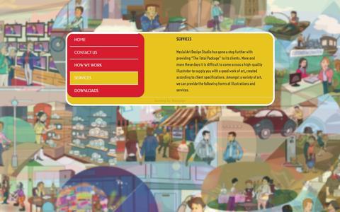 Screenshot of Services Page mesialart.com - Services | mesialart.com - captured Feb. 13, 2016