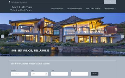 Screenshot of Home Page catsman.com - Telluride Colorado Real Estate - Catsman Telluride Colorado Real Estate Corp. - captured Feb. 18, 2016