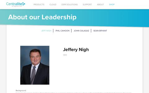 Screenshot of Team Page centralite.com - About our Leadership | Centralite | All Together Now - captured July 21, 2017