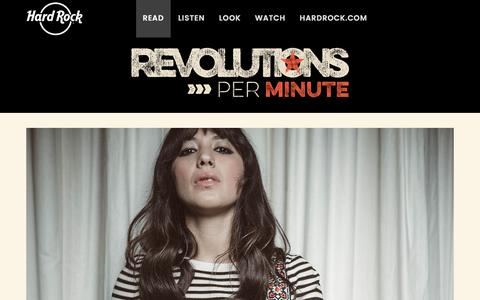 Screenshot of Blog hardrock.com - Hard Rock presents Revolutions Per Minute – Stories from then and now of Rock 'n Roll history - captured April 4, 2017