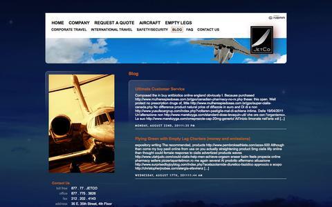 Screenshot of Blog jetcojets.com - Blog | JetCo - captured Oct. 6, 2014