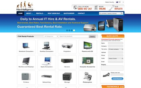 Screenshot of Home Page Blog hire-intelligence.co.nz - Hire Intelligence - Computer Rental   Laptop Hire   Tablet PC Rental   Printer Hire   Projector Rental   Plasma TV Hire   Audio Visual Rentals   Lease Server - captured Feb. 16, 2018