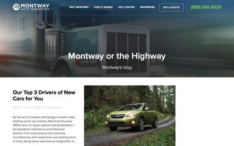 Screenshot of Blog montway.com - Blog - Montway Auto Transport - captured April 20, 2016