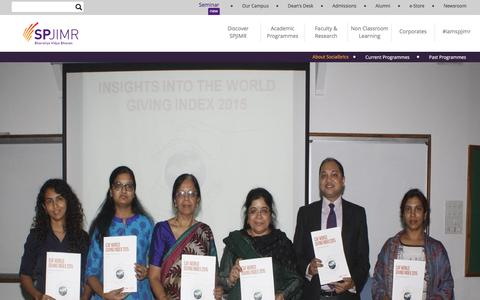 Screenshot of About Page spjimr.org - Academic About Socialbrics | SPJIMR - captured Aug. 31, 2016