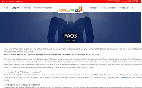 Screenshot of FAQ Page designers-den.com - FAQs | Frequently Asked Questions by clients - captured Nov. 24, 2016