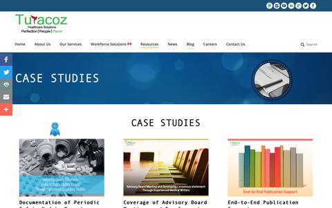 Screenshot of Case Studies Page turacoz.com - Clinical Case Study  | Turacoz Healthcare Solutions - captured Oct. 19, 2018