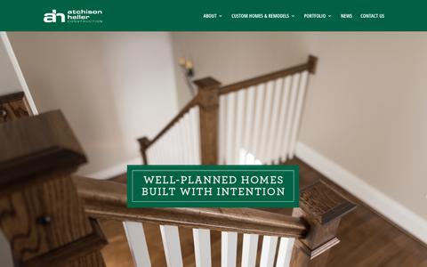 Screenshot of Home Page atchisonheller.com - Central Kentucky's Trusted Home Builder   Home Remodel   Construction - captured July 4, 2018