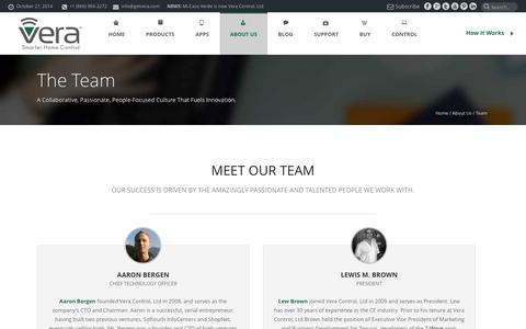 Screenshot of Team Page getvera.com - Team - Vera - captured Oct. 27, 2014