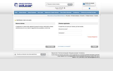 Screenshot of Login Page educar.com.co - Acceso del cliente - captured Oct. 1, 2014