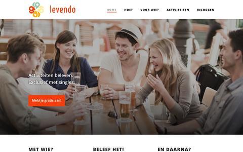 Screenshot of Home Page levendo.nl - Levendo.nl - single events - captured Jan. 21, 2015