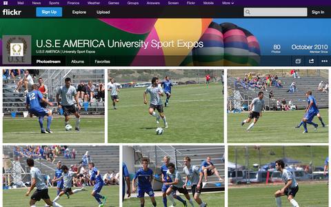 Screenshot of Flickr Page flickr.com - Flickr: U.S.E AMERICA | University Sport Expos' Photostream - captured Oct. 23, 2014