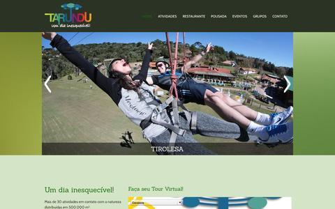 Screenshot of Home Page tarundu.com.br - Tarundu   Um dia inesquecível! - captured Sept. 25, 2014