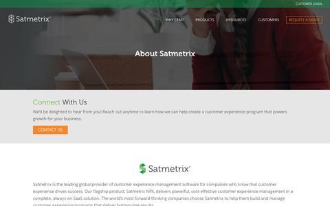 The Satmetrix Advantage - Customer Experience Success