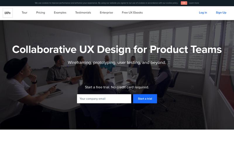 Screenshot UXPin - Collaborative UX design for product teams.