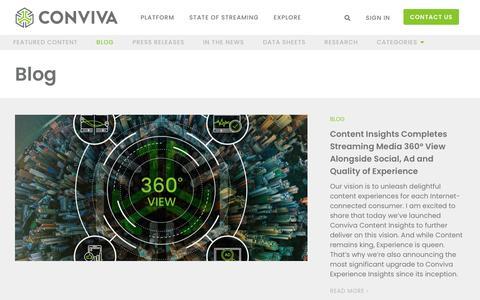 Screenshot of Blog conviva.com - Conviva Blog - captured Sept. 16, 2019