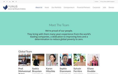 Screenshot of Team Page yunussb.com - Our Team | Yunus Social Business - captured Sept. 22, 2018