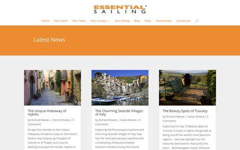 Screenshot of Blog essentialsailing.com - Blog - Essential Sailing - captured Jan. 31, 2016