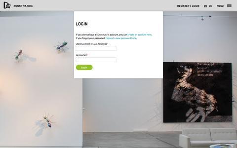 Screenshot of Login Page kunstmatrix.com - User account | art | KUNSTMATRIX - captured Nov. 27, 2016