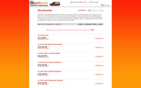 Screenshot of Products Page pch.com - ::Welcome to pch.com | It's all about winning!:: - captured Sept. 19, 2014