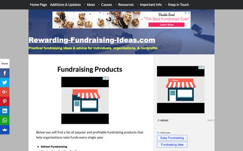 Screenshot of Products Page rewarding-fundraising-ideas.com - Fundraising Products - Rewarding Fundraising Ideas - captured Sept. 22, 2018