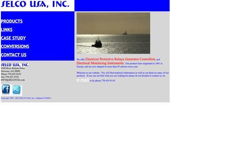 Screenshot of Home Page selcousa.com - SELCO USA, Inc. - captured Oct. 3, 2014