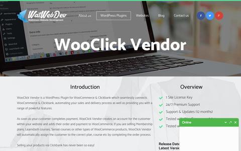 WooClick Vendor - WatWebDev.com