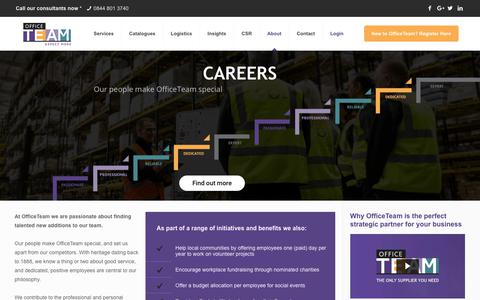 Screenshot of Jobs Page officeteam.co.uk - OfficeTeam | Careers and recruitment at OfficeTeam - captured April 12, 2018