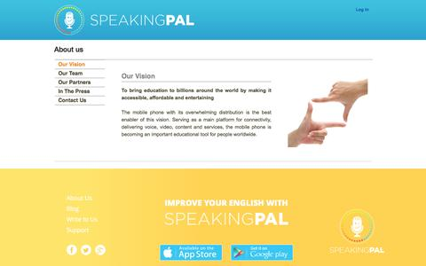 Screenshot of About Page speakingpal.com - About us | Speakingpal - captured Feb. 22, 2016