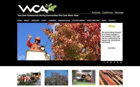 Screenshot of Home Page westcoastarborists.com - West Coast Arborists, Inc. - Tree Care Professionals Serving Communities Who Care About Trees - captured Oct. 9, 2014