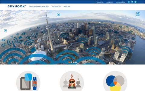 Screenshot of Home Page skyhookwireless.com captured July 11, 2014