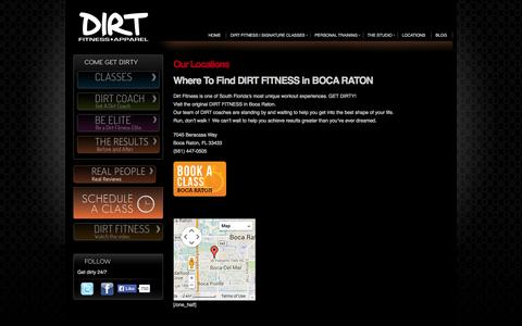 Screenshot of Testimonials Page Maps & Directions Page dirtfitness.com - Our Locations  | DirtFitness - captured Oct. 23, 2014
